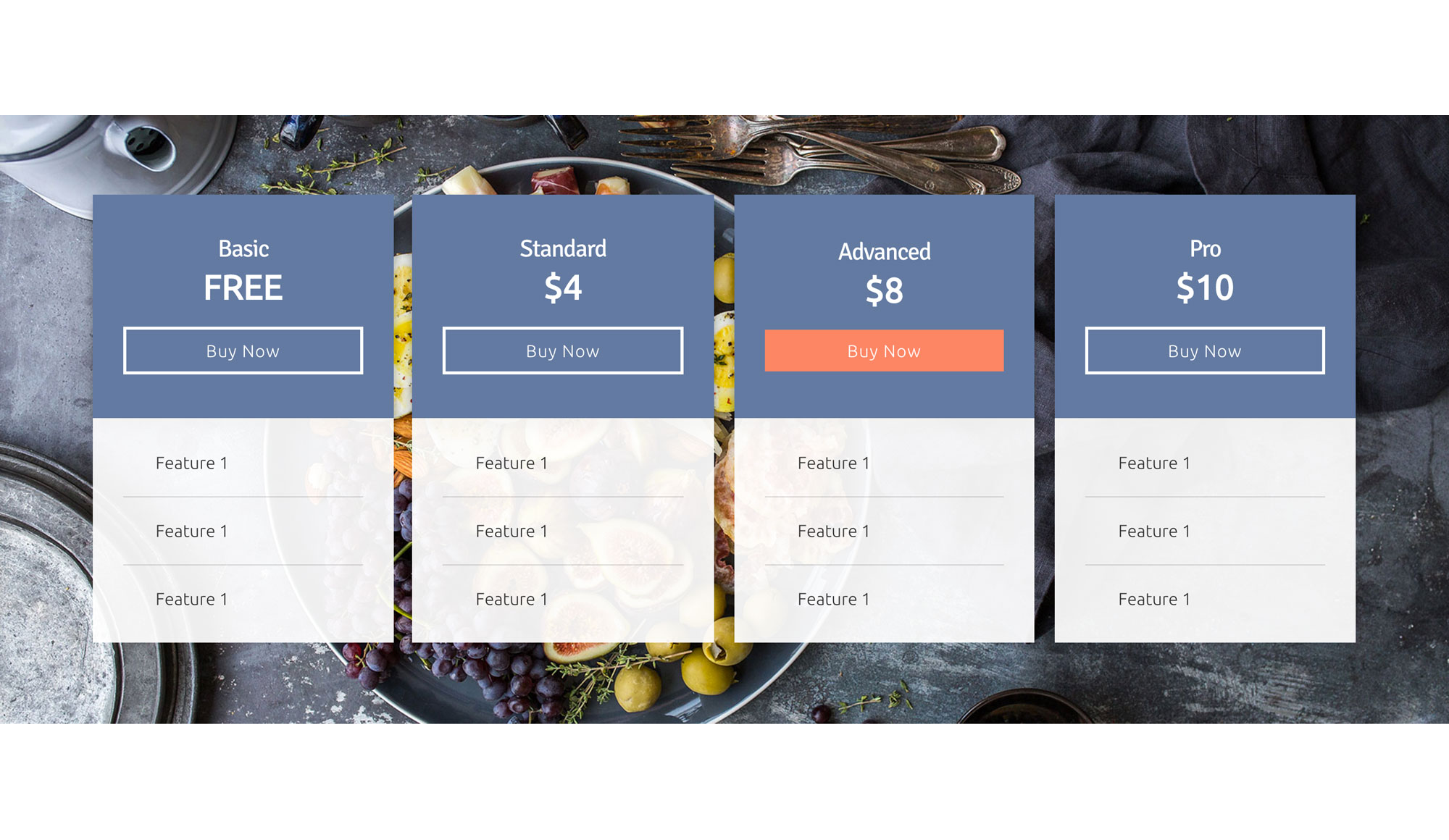 Pricing Table 2